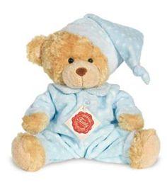 peluches hermann-teddy Peluche Ours en pyjama bleu 26 cm Ready for a little nap :)  #teddy #nounours #doudou