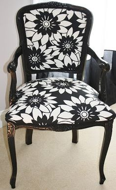 LOVE!! Definitely something to ask Alicia to help with Style, Decor and More!: A Drab to Fab Furniture Find! {Before and After!}