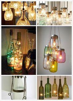 Déco à faire soi-même: utiliser des bouteilles en verre.