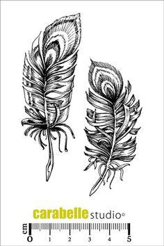 Tampon : La folie des plumes Carabelle Studio, Tampons A7 : Nature - Art Stamp