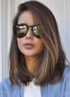 55 Chic Medium Length Hair Styles for Women, Frisuren, corte long bob. Medium Hair Cuts, Medium Hair Styles, Curly Hair Styles, Long Bob Styles, Medium Cut, Medium Layered, Long Layered, Medium Long, Long Bob Hairstyles