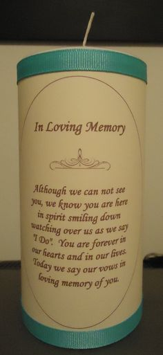 "to do in memory of all of those who will have passed before I say ""I Do""  Justin=("