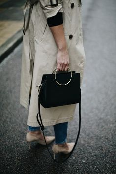 Fashion week street style shots left us with an idea of what's going to be the next hottest bag trend. Ring handle bags are you next obsession!