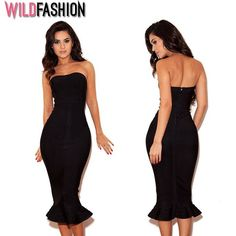 Aceasta LBD bandage are cateva beneficii: vei arata super in ea si nu se va demoda niciodata!😍 Bandage Dress Uk, Strapless Dress Formal, Formal Dresses, Herve Leger, Catio, Lbd, Mermaid, Spandex, Shopping