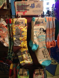These soft cotton fun printed socks will make you laugh and anyone else who sees them. Their a perfect gift for yourself or for a friend.
