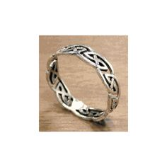 Elven Silver Knot Ring | Lord of the Rings Rings Shop found on Polyvore
