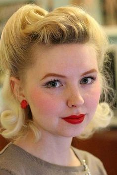 Cute Pin Up Look Short Hair