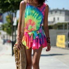 Tye dye dress for summer