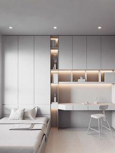 Study Room Design, Master Bedroom Interior, Bedroom Closet Design, Small Room Design, Girl Bedroom Designs, Home Room Design, Home Office Design, Home Bedroom, Home Interior Design