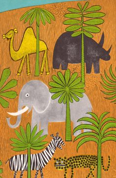 Four Fur Feet - written by Margaret Wise Brown, illustrated by Remy Charlip. Children's Book Illustration, Animal Illustrations, Margaret Wise Brown, Animal Habitats, Artwork Display, Elephant Love, Art For Kids, Kid Art, Arts Ed