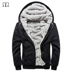 FuzWeb:XXXXL Hoodies Men -Clothing Sweatshirt Mens Chandal Hombre Thick Hoodie Man Fleece Hoody Pullover Warm Mens Jacket W11,black W11 USA SIZE / XL