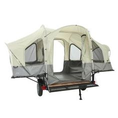 Lifetime - Deluxe Tent Trailer Kit in. x 79 in. with Spare Tire and 2 Ramps - Converting from utility trailer to tent in just minutes, this heavy duty polyester unit has a weather and rust resistant powder coated steel frame. Travel Trailer Tires, Camping Trailer Diy, Trailer Tent, Camper Trailers, Tent Camping, Camping Gear, Camping Tricks, Trailer Kits, Utility Trailer