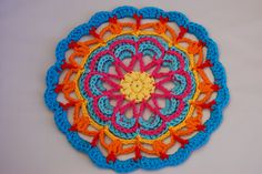 Amjaylou: A Rainbow Crochet Mandala for Mum