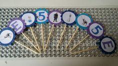 Cupcakes topper personalizzabili a tema Frozen- 24 pezzi by Pandora Handmade & Eventi