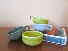 Russel Wright 1940's Cappucino Cups by ArtExtraction on Etsy