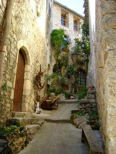 Summer Street, Saint Guilhem le Desert, Montpellier, France