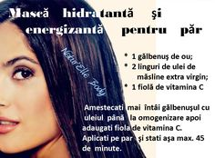 Masca hidratanta si energizanta pentru par My Beauty Routine, Natural Treatments, Body Care, Health Tips, Hair Care, Hair Beauty, Hair Styles, Nature, Marriage