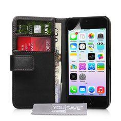 Accessories Etui portefeuille en PU cuir pour iPhone 5S Noir'