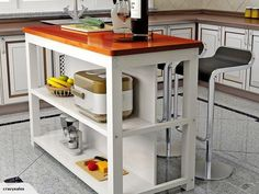Kitchen Cart, Cabin, Home Decor, Decoration Home, Room Decor, Cabins, Cottage, Home Interior Design, Wooden Houses