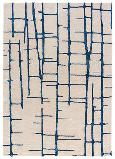 This hand-tufted, wool and art-silk rug, in naturalistic tones might depict birch branches with incised bark revealing the pulpy interior. Then again, with an impressionistic design like this, customers can choose their own interpretation.