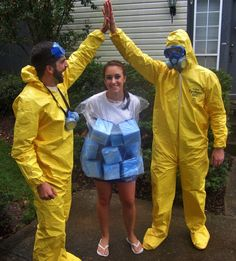 The Best Group Halloween Costumes To Try This Year: http://ow.ly/qhzto  #Halloween #Costume #BreakingBad #DIY #DIYcostume