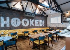 Absolute were instructed to refurbish this existing seafood restaurant in Truro, to rebrand and give the whole business a new personality. The owners were inspired by the casual and leisurely way the Spanish dine and wanted to bring elements of this into the design and menu.