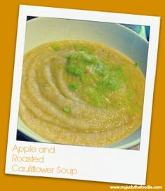 Amazing Apple and Cauliflower Soup!  #YUM