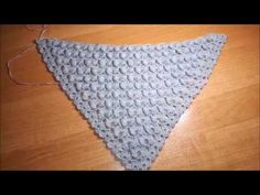 Интересный узор для шали. Идея для вязания шали крючком.