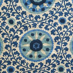 Pindler & Pindler KAITAG AZURE Fabric. Something like this would be a gorgeous foyer carpet.
