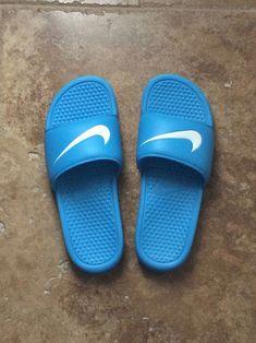 timeless design a1ea2 bccc2 NIKE vivid blue Benassi slides on We Heart It