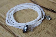 Trendy white bracelet