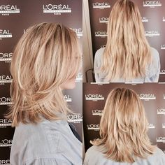 Cute Medium Layered Haircuts for Beautiful Women in 2019 - Page 6 of 43 - Hair Trends Website Medium Layered Haircuts, Medium Hair Cuts, Short Hair Cuts, Medium Hair Styles, Curly Hair Styles, Natural Hair Styles, Rose Gold Short Hair, Hair Cute, Pelo Bob
