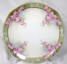 Beautiful R s Germany Hand Painted Cabinet Plate