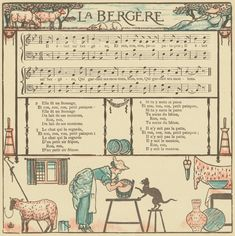La Bergère. From New York Public Library Digital Collections.