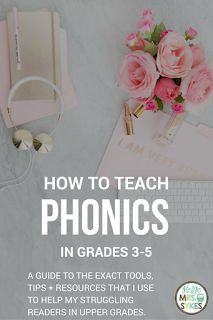 How to teach phonics interventions to struggling third, fourth, and fifth grade readers Reading Intervention, Teaching Reading, Reading Comprehension, Guided Reading, English Language Learners, Language Arts, English Grammar, Teaching Phonics, Struggling Readers