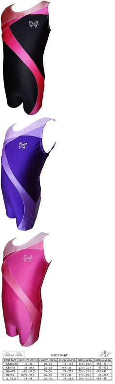 Leotards and Unitards 152354: Talent Tale Girls Dance Gymnastic Tank Color Block Biketard -> BUY IT NOW ONLY: $41.5 on eBay!