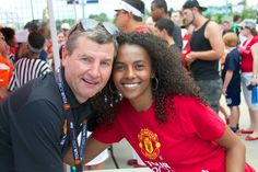 2014 US Tour In Denver, Colorado Manchester United against AS Roma where Manchester United won the game. I got to meet this great legend Denis Irwin. And this is how I follow this great club.