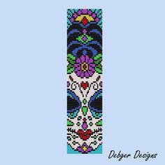 Sugar Skull 3 - Loom Bracelet Cuff Pattern