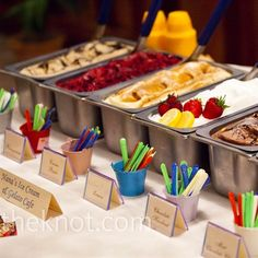 A gelato bar let guests sample flavors like chocolate-mint and strawberry. The setup added to the whimsical reception vibe.