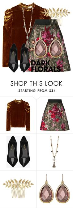 """""""Dark Floral"""" by carmacollectioncandi on Polyvore featuring Ulla Johnson, Dolce&Gabbana, Yves Saint Laurent and Chloe + Isabel"""