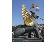 Griffin Statue on the Bank Bridge over the Griboedov Canal in St. Petersburg - St. Petersburg (c) Linda Garrison