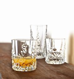 Nachtmann Sculpture Tumbler Glazen L - 2 st. Whisky, Pop Drink, Home Living, Transparent, Pint Glass, Bourbon, Tumbler, Sweet Home, Cocktails