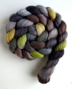 10 FEET Chocolate Silver Brown Color CORRIEDALE ROVING Natural Wool Spin Felt