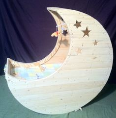 Hand Crafted Baby Cradle  Crescent Moon by ResuscitationDesigns, $700.00  @BabyList Baby Registry