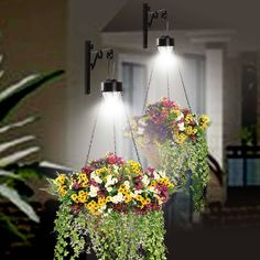 hanging solar lights outdoor