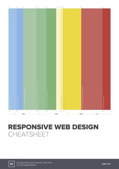 All the responsive breakpoints you need in a handy poster. Download the responsive web design cheat sheet, print ready.