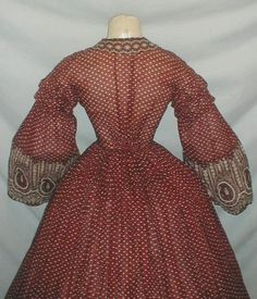 All The Pretty Dresses: Early 1860's American Civil War Era Paisley Dress