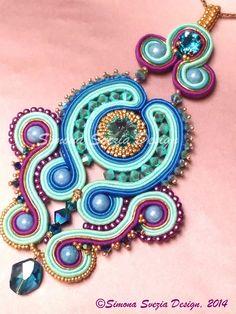 Perline e Bijoux: Finito! Centrale in soutache / Soutache pendant