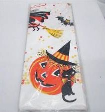 Vintage Rust Craft Halloween Paper Tablecloth Jack O Lantern Bats and Witch IOP Halloween And More, Halloween Magic, Halloween Table, Halloween Christmas, Halloween Night, Vintage Halloween, Halloween Crafts, Halloween Decorations, Paper Halloween