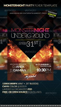 Free City Night Party Flyer Template - http://freepsdflyer.com ...